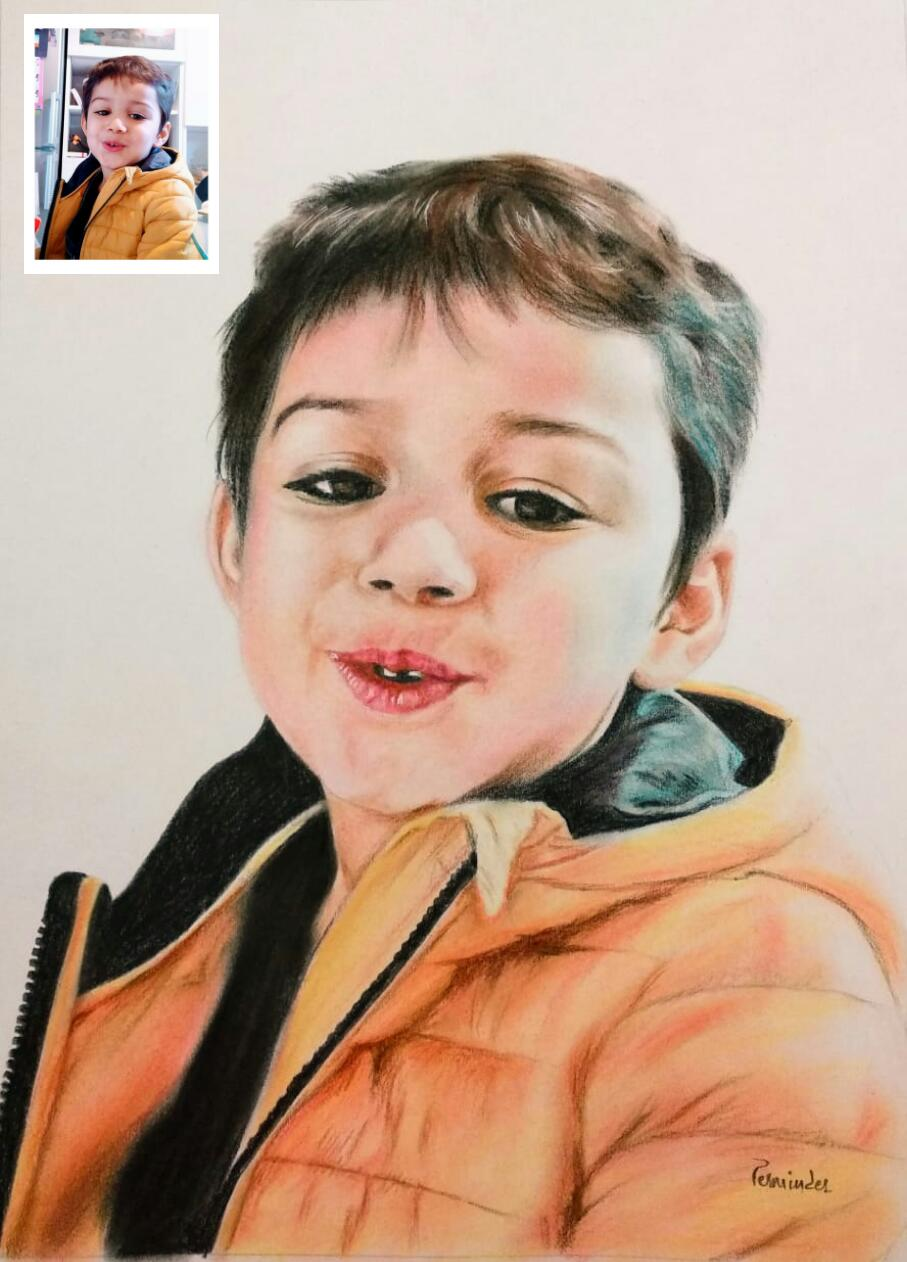 Photo To Painting Custom Portrait Painting From Photo By