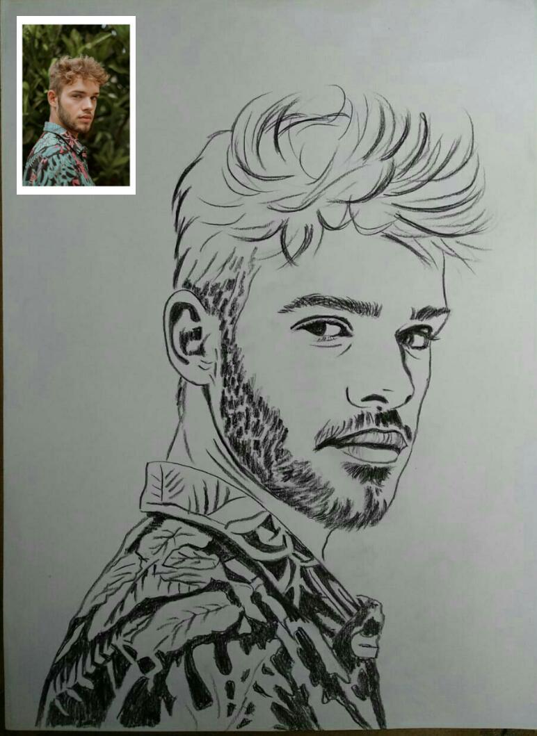 Line art sketch photo to painting custom portrait drawing sketch artist